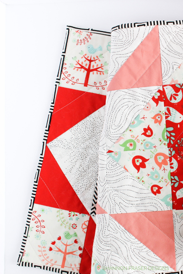 Scandinavian Inspired Holiday Modern Aztec Quilted Table Runner | Shannon Fraser Designs
