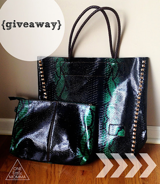Win this hot bag for Fall from ONE little MOMMA and Elle Ellyse
