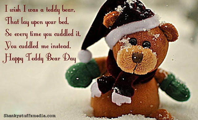 Happy Teddy bear day wishes  for her