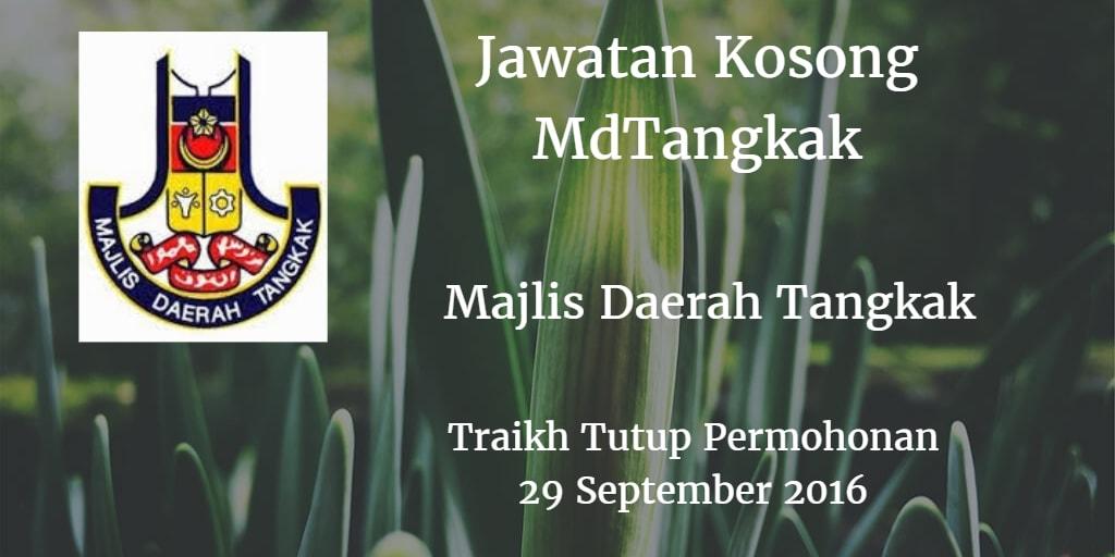 Jawatan Kosong MdTangkak 29 September 2016