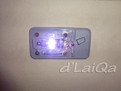 tes lampu led sebelum plastik mika dipasang