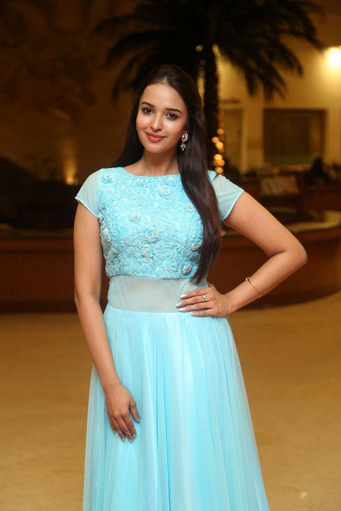 Telugu Actress Pujita In Blue Dress