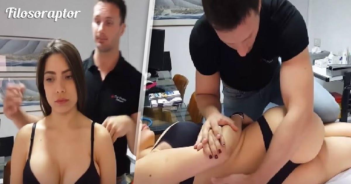 video quiropráctico tronando huesos a chica sexy en bikini
