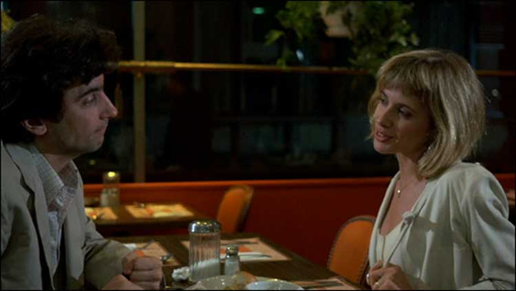 Griffin Dunne and Rosanna Arquette meet in Martin Scorsese's After Hours.