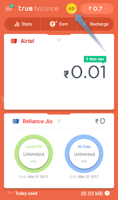 How to earn recharge watch ad truebalance