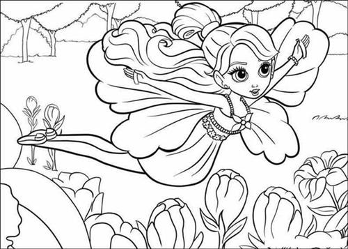 barbie thumbelina coloring pages learn to
