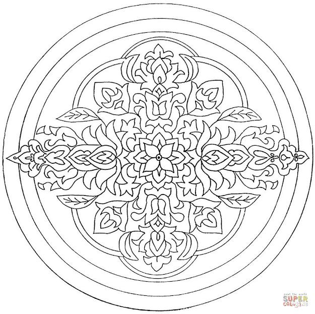 Circle Mandala With Flower Ornament