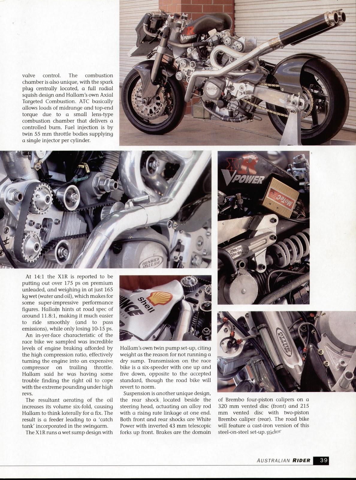 Hunwick Hallam Australian Rider Article