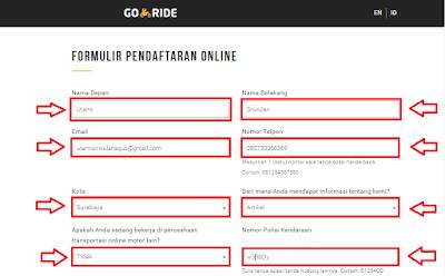 Cara Daftar Go-Ride Gojek Terbaru, Cepat di Terima!