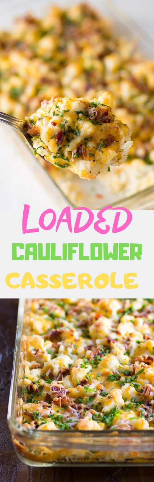 LOADED CAULIFLOWER CASSEROLE #CASSEROLE #LOWCARB #DINNER