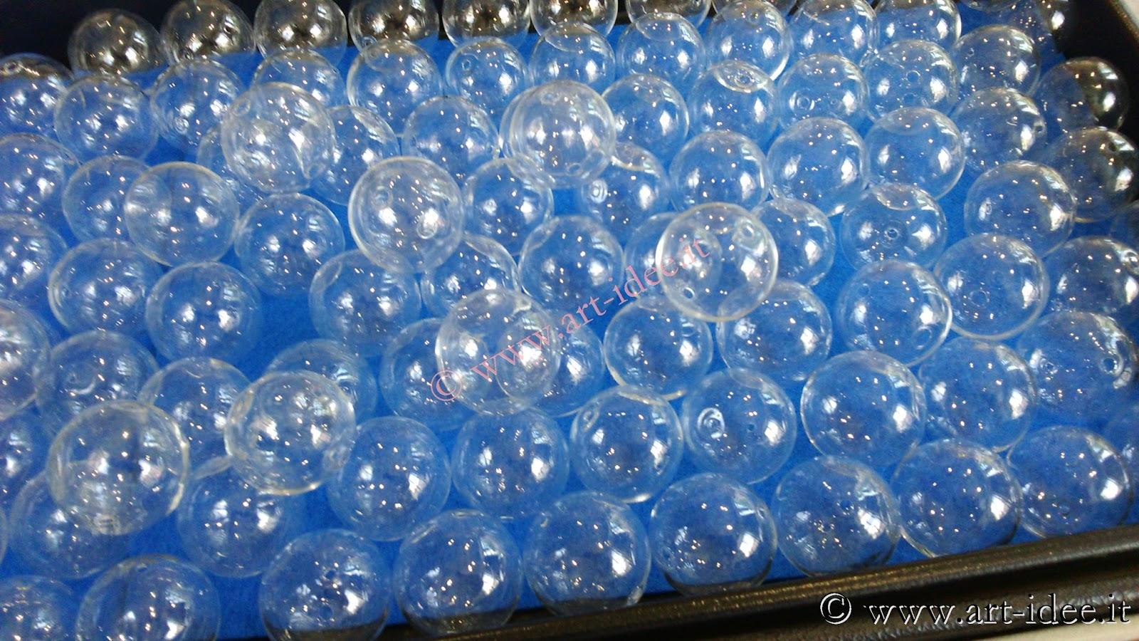 Accessori e componenti per creare bigiotteria a torino o for Lampadario palline vetro