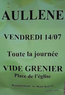 vide-grenier à Aullène le 14 juillet 2017