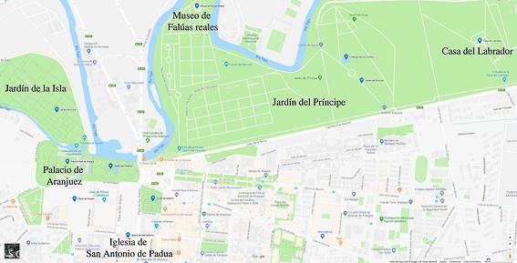 Mapa turistico de Aranjuez. Madrid