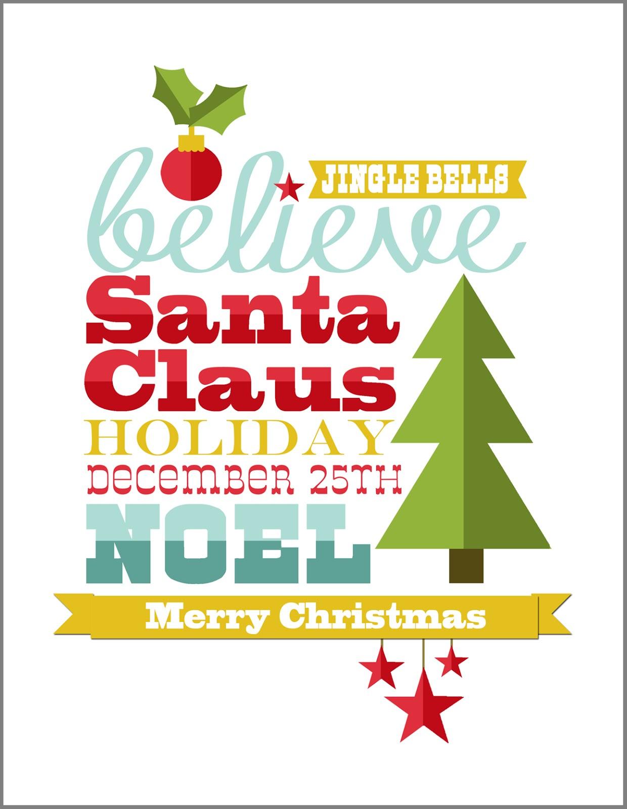 Free Christmas Subway Art Printable