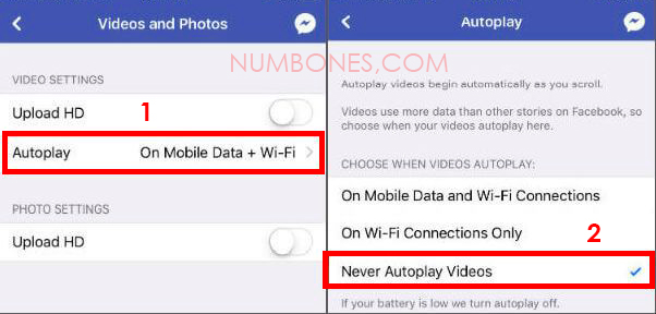 Stop Autoplay Facebook Videos on iOS iPhone