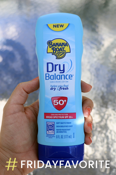 #FridayFavorite :: Banana Boat Dry Balance Sunscreen, SPF 50+ Review
