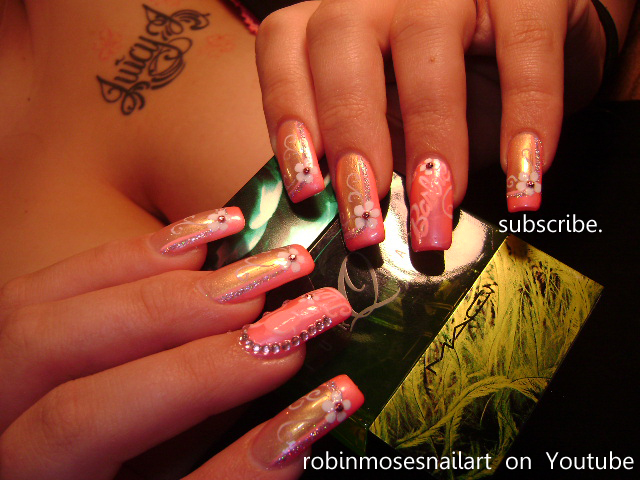 Ed Hardy Nail Art Robin Moses Robinmosesnailart Barbie Nails Pink Friday Mac Perfume Juicy Tattoo