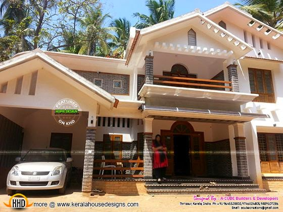 Finished house elevation in Kerala