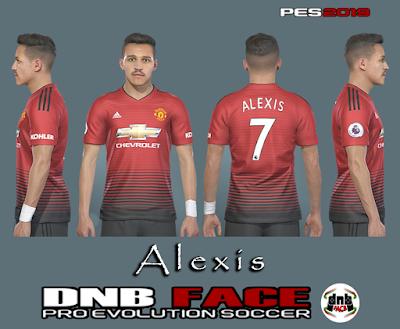 PES 2019 Faces Alexis Sanchez by DNB