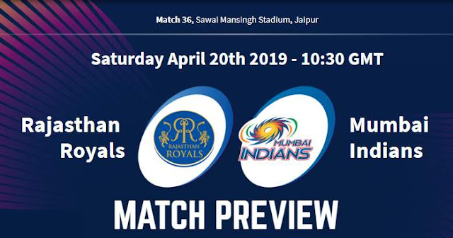 VIVO IPL 2019 Match 36 RR vs MI Match Preview, Head to Head and Trivia