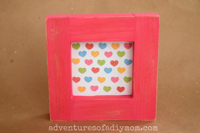 Easy Framed Heart Art