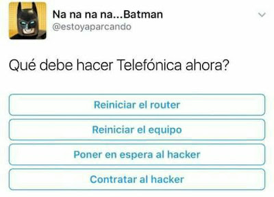 Memes Hackeo Teléfonica