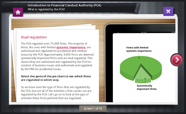 ComplianceServe Screen for Introduction to Financial Conduct Authority (FCA)