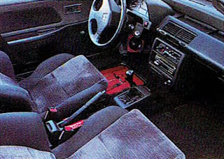 picture of Dustin Culton's 1990 Red Honda Civic's driver side interior