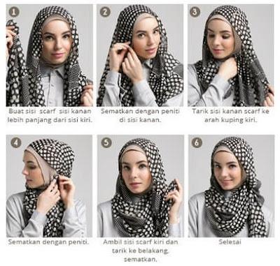 Tutorial Hijab Monocrome atau Monochrome yang Gaul dan Kekinian