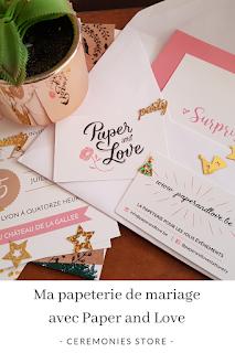 Ma papeterie de mariage avec Paper and Love blog mariage www.unjourmonprinceviendra26.com