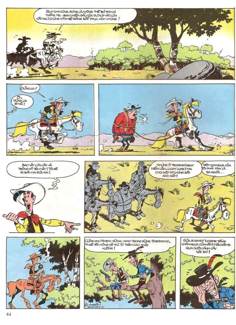 Lucky Luke tap 16 - jesse james hiep si rung xanh trang 46