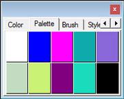 anseries design tampilan palette