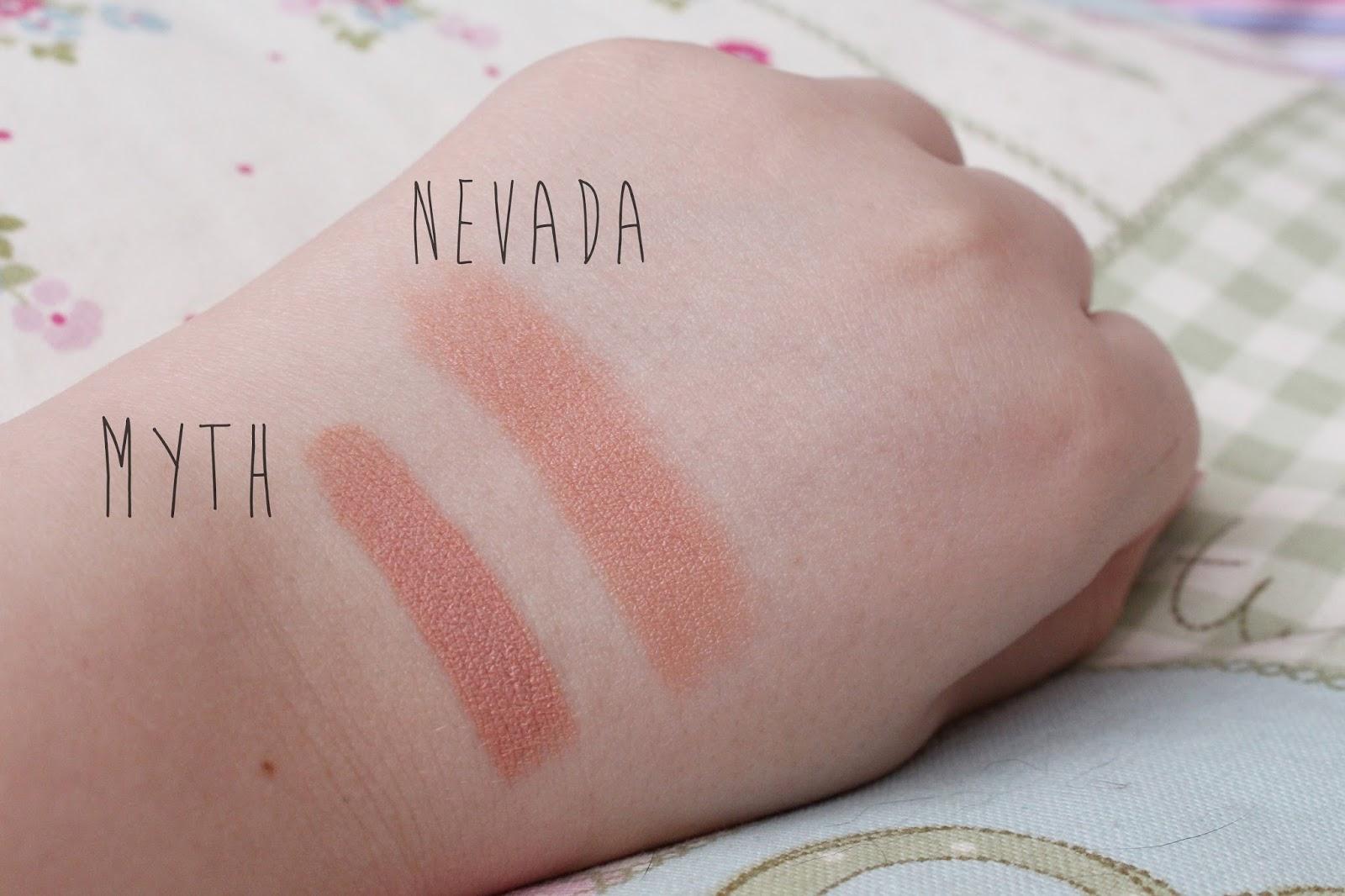 Topshop Nevada Lipstick and MAC Myth Lipstick