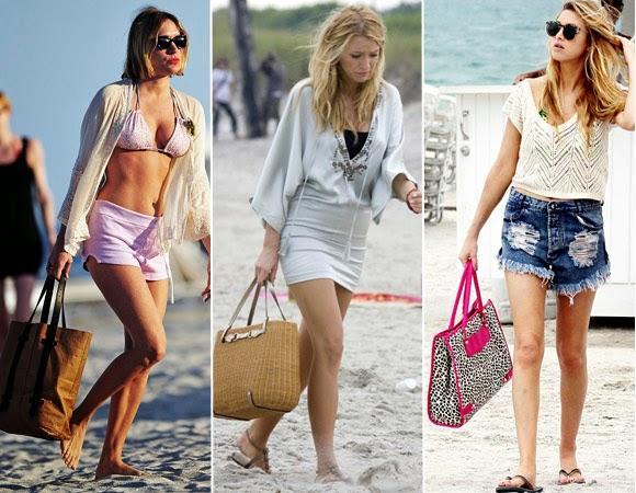 bolsas para usar na praia