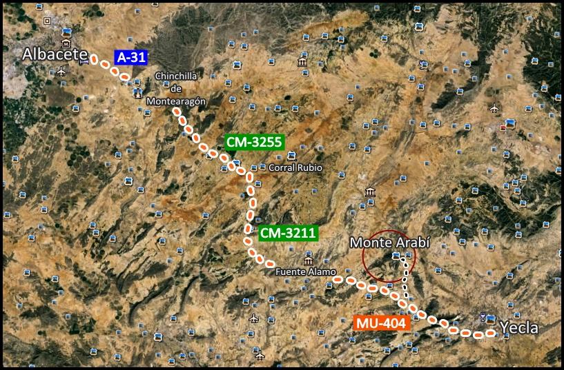 Monte-Arabí-Mapa