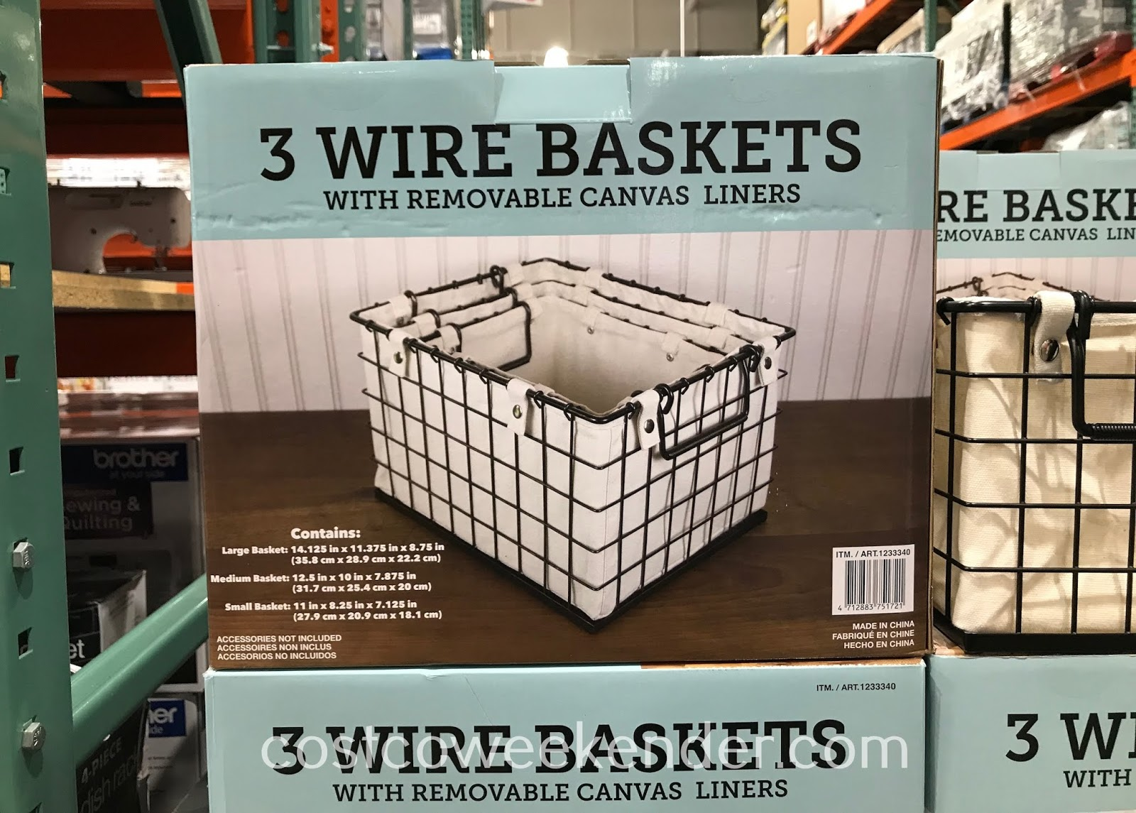 Clear clutter and get organized with Giftburg 3 Wire Baskets