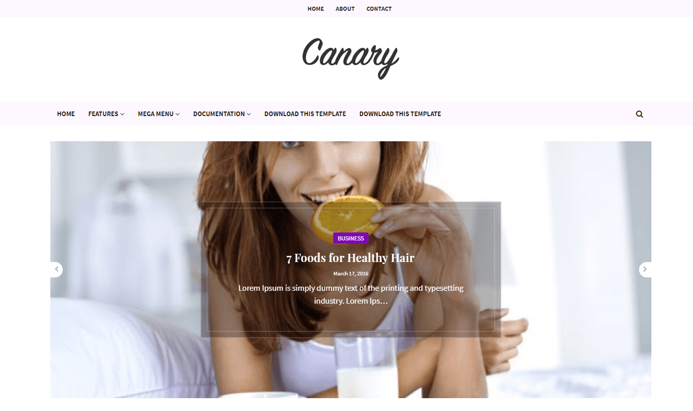 Canary Blogger Template