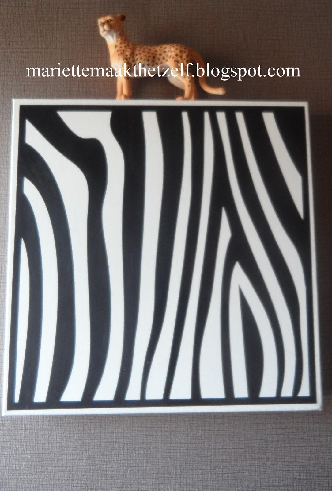 Mariette maakt het zelf deco voor de safari kamer - Deco voor een kamer ...