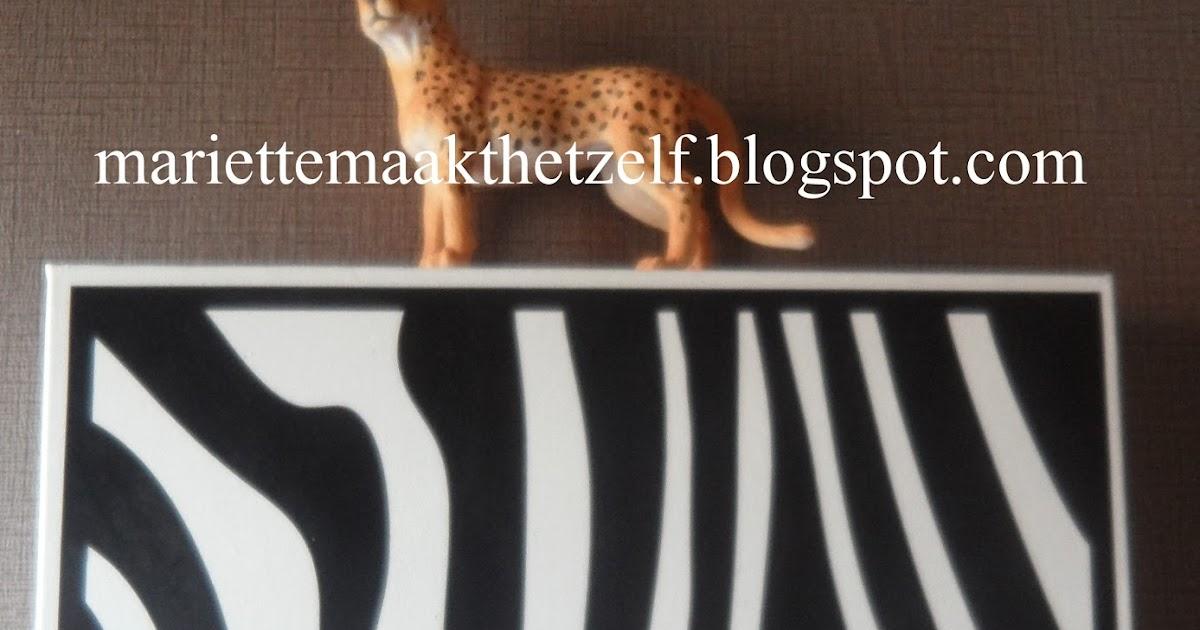 Mariette maakt het zelf deco voor de safari kamer - Deco voor volwassen kamer ...