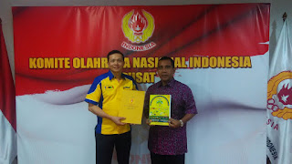 Sofian Tjandra Penandatanganan MOU dengan Mayjen (Purn) Tono Suratman Ketua Umum KONI