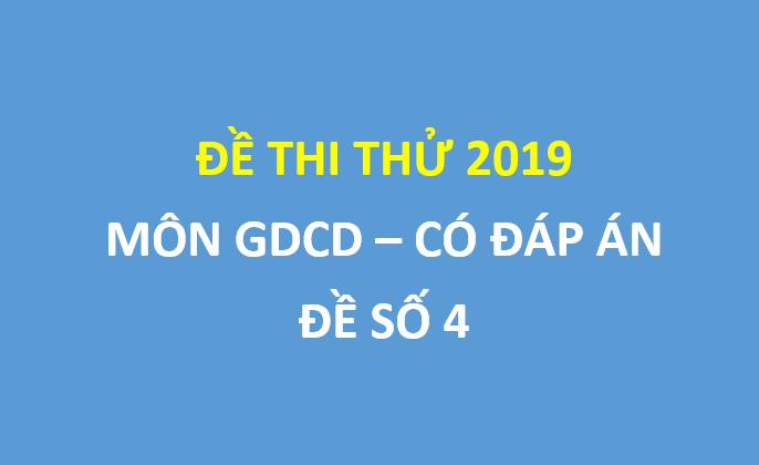 Đề thi thử môn GDCD lần 2 sở GD Nghệ An