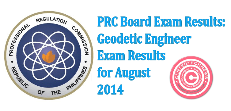 Geodetic Engineer Board Exam Results for August 2014