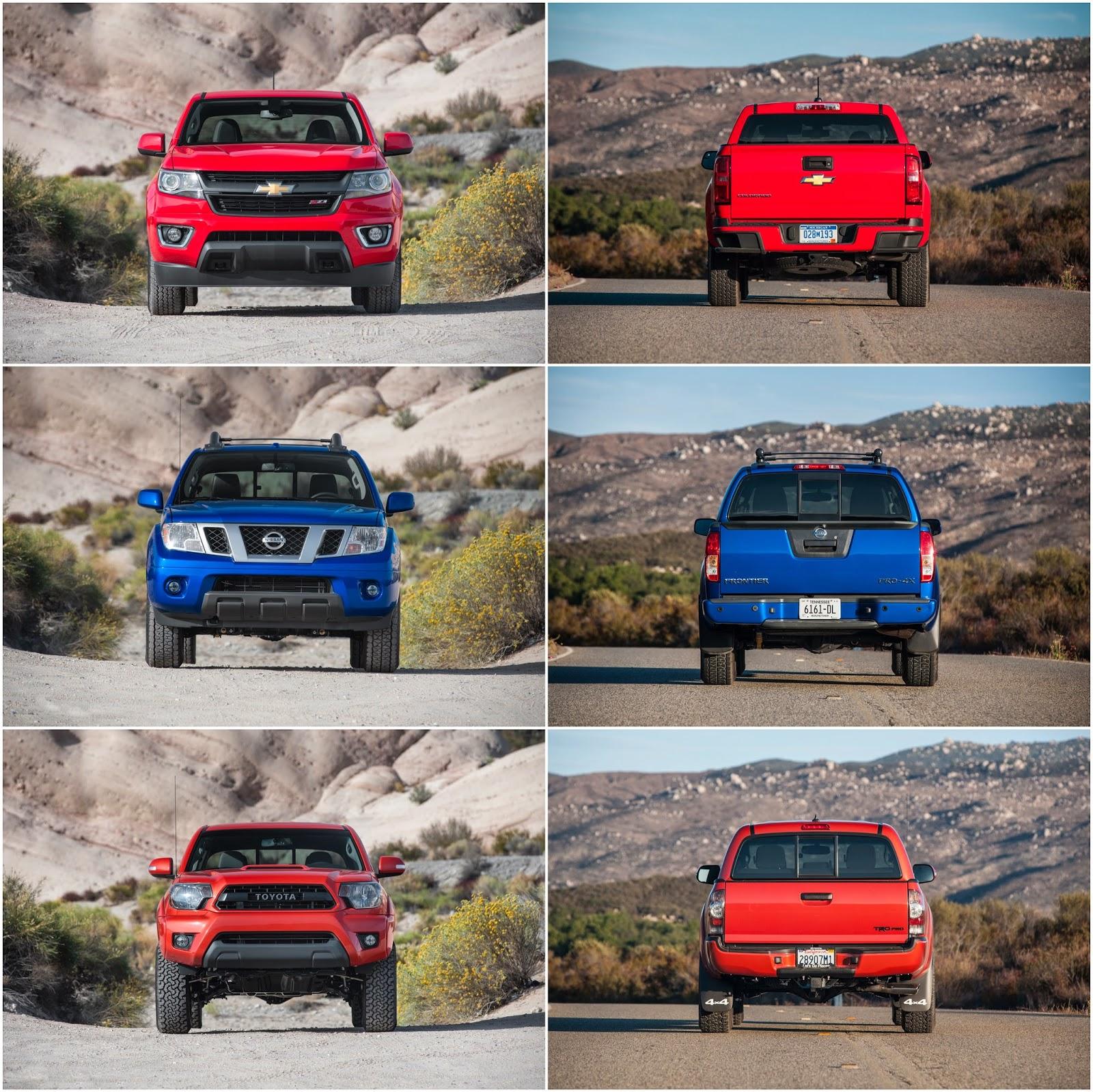 Off-Road & Camping: Comparison: Chevrolet Colorado Vs