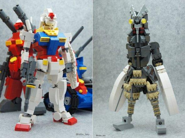 nobu_tary flickr esculturas de lego comidas gundam ultraman