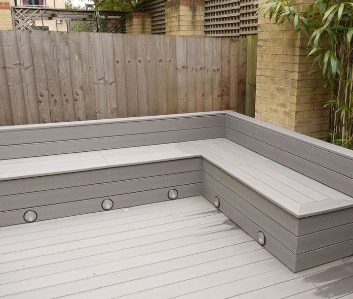 It 39 s time to sort out the back garden different decking for Garden decking seating areas