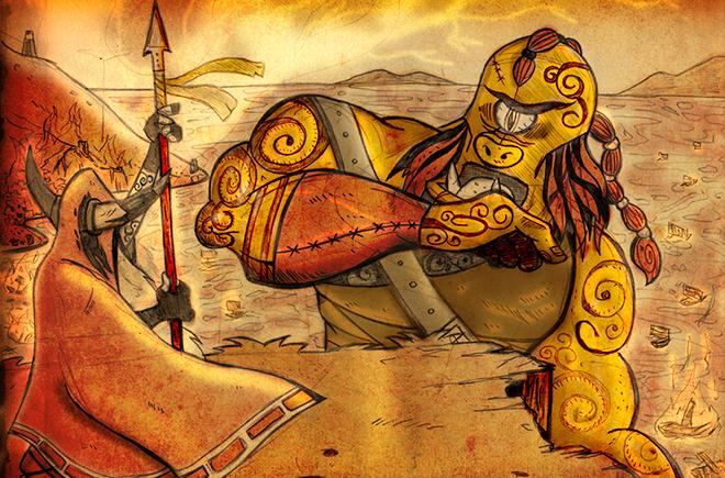 floclore, mitologia celta, zona 33, monstros, irlanda, demônio, balor