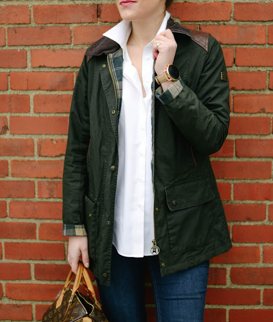 how to style a Barbour Beadnell Jacket