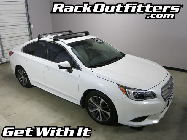 subaru legacy rhino rack 2500 rs vortex aero black roof. Black Bedroom Furniture Sets. Home Design Ideas