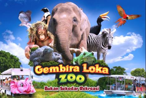 Info Alamat Kebun Binatang Gembira Loka serta Harga Tiket, Review dan Peta Lokasi nya
