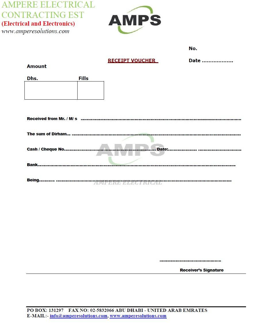 Sample Receipt – Sample Receipt Form